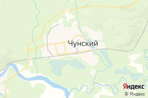 Карта пос. Чуна Иркутская область