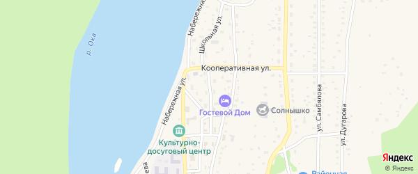 Школьная улица на карте села Орлика Бурятии с номерами домов