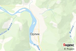 Карта с. Орлик Республика Бурятия