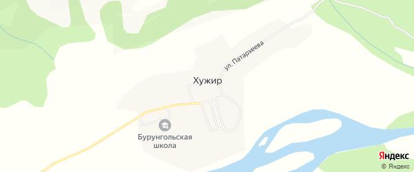 Карта села Хужира в Бурятии с улицами и номерами домов