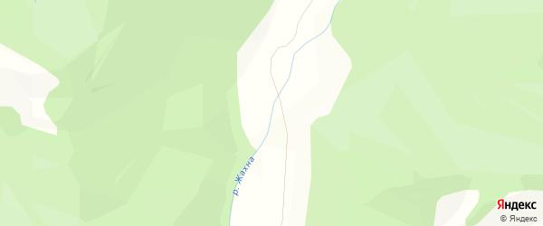 Карта местечка Жахна в Бурятии с улицами и номерами домов