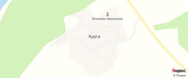 Центральная улица на карте улуса Хурга Бурятии с номерами домов