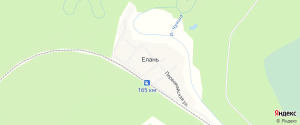 Карта поселка Елани в Иркутской области с улицами и номерами домов