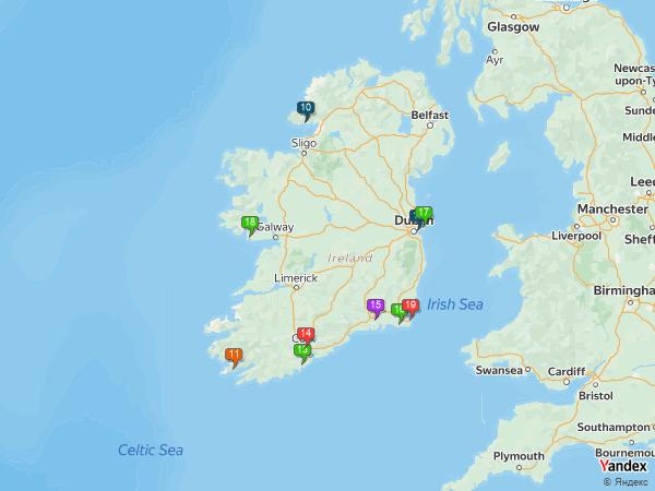 Crude oil to Ireland