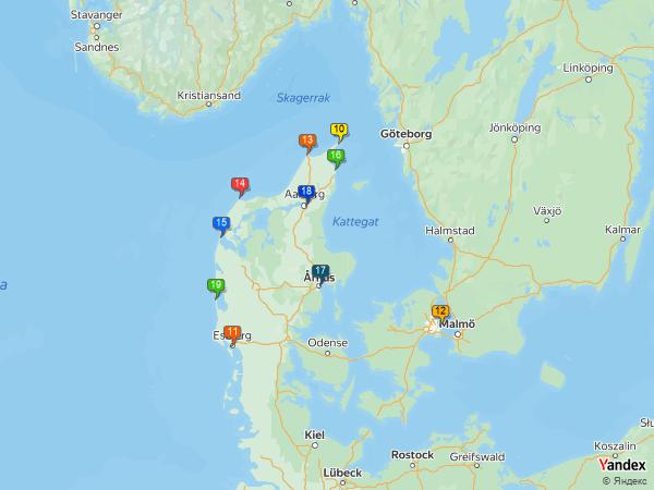 Crude oil to Denmark