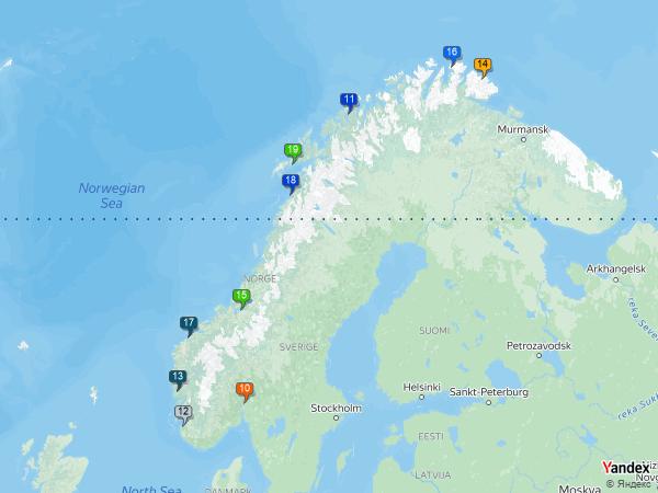 Equipment balancing to Norway