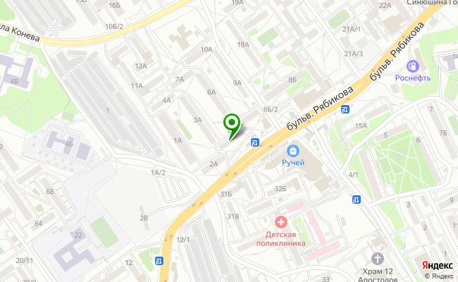 Сбербанк Иркутск бульвар Рябикова 5А карта