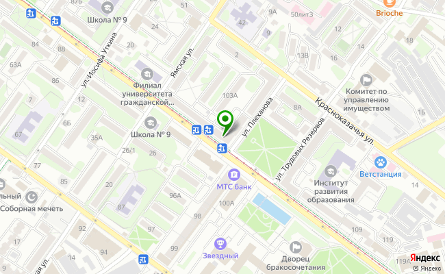 Сбербанк Иркутск ул. Декабрьских Событий 105А карта