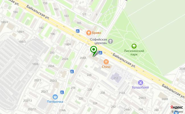 Сбербанк Иркутск ул. Байкальская 206 карта