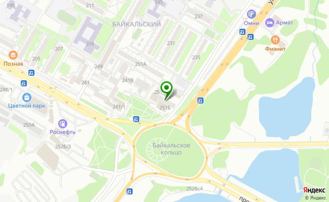 Сбербанк Иркутск ул. Байкальская 251Б карта