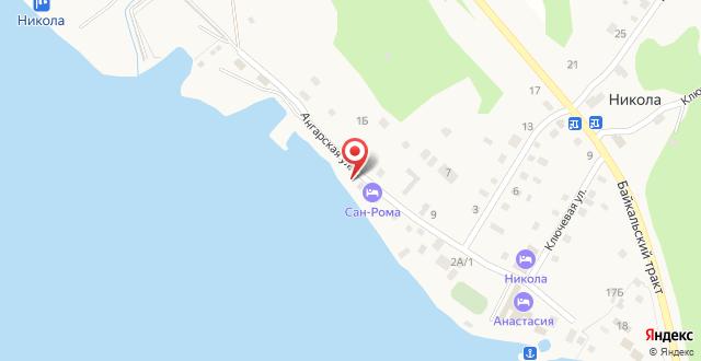 Коттедж и сауна на Байкале на карте