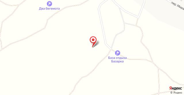База отдыха Базарка на карте