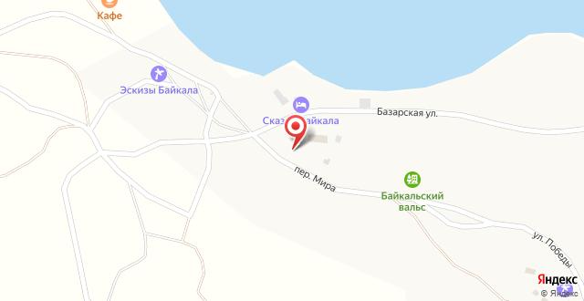 База отдыха Дыхание Байкала на карте