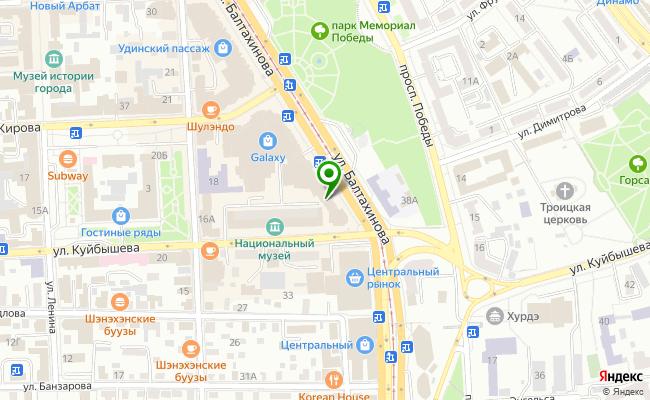 Сбербанк Улан-удэ ул. Балтахинова 13 карта