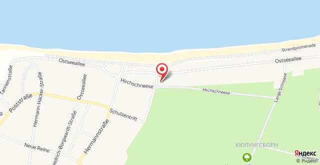 Am Weststrand Apartmenthaus Waldeck на карте