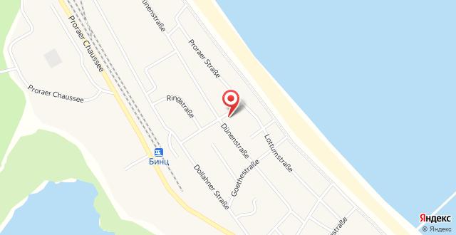 Dünenresort Binz by Rujana на карте