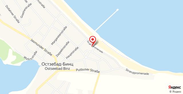 Villa Strandblick Binz на карте