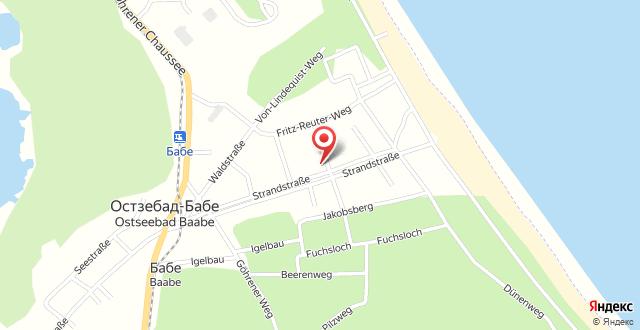 Ferienwohnung 01 mit Terrasse - Strandstraße на карте