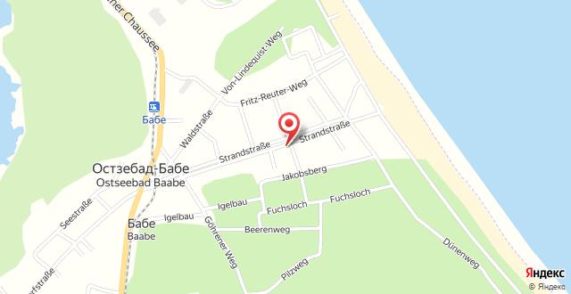 Strandhotel Baabe на карте