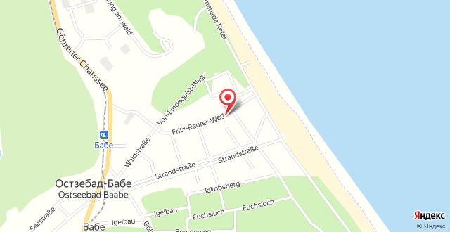 Strandvilla Andrea Whg.4 mit Südterrasse на карте