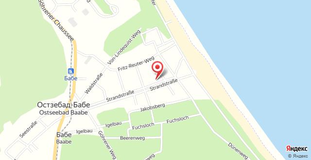 Hotel Strandpavillon на карте