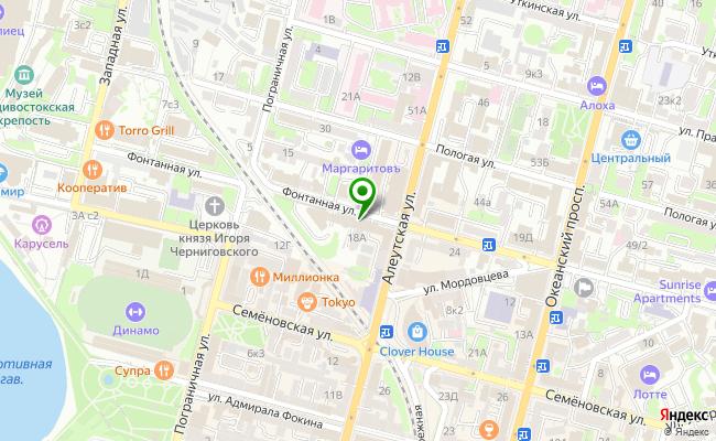 Сбербанк Владивосток проспект Фонтанная 18 карта