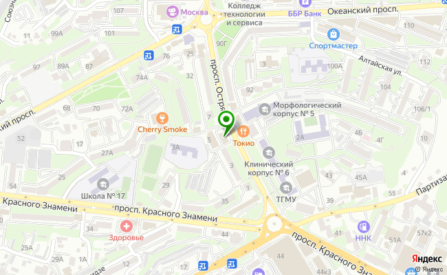 Сбербанк Владивосток проспект Острякова 5, корп.Г карта