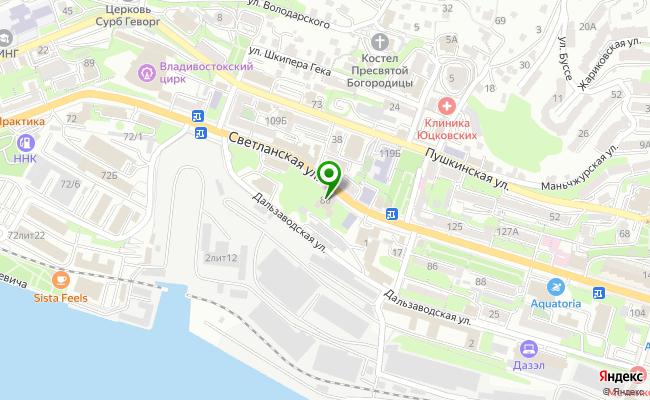 Сбербанк Владивосток ул. Светланская 80, корп.В карта
