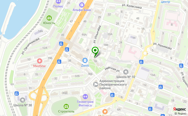 Сбербанк Владивосток ул. Ильичева 16 карта