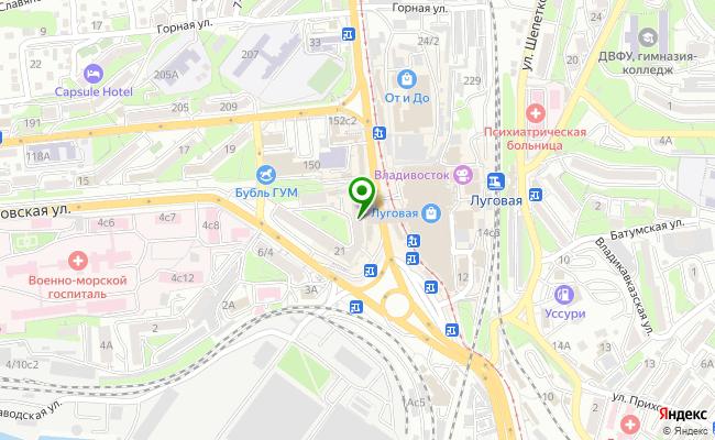 Сбербанк Владивосток ул. Луговая 21 карта