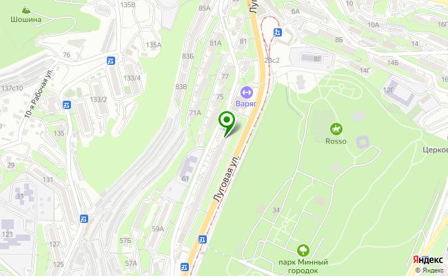 Сбербанк Владивосток ул. Луговая 69 карта