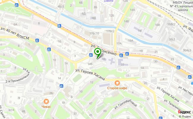 Сбербанк Владивосток ул. Борисенко 16 карта