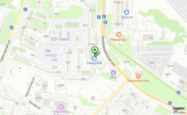 Сбербанк Хабаровск ул. Тихоокеанская 191А карта