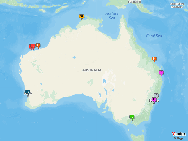 Crude oil to Australia