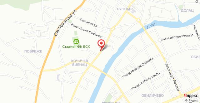 Banja Luka apartment на карте