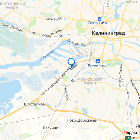 жилой дом по ул. Суворова, 59 на карте