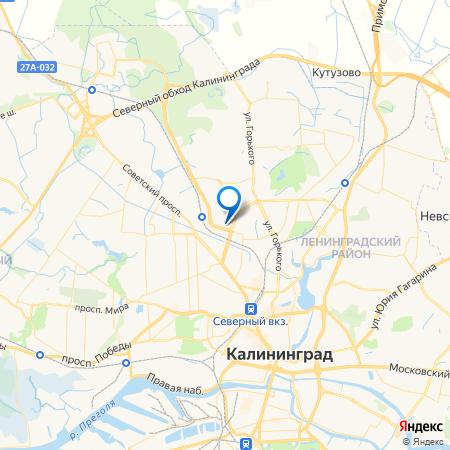 Калининград-Сити на карте