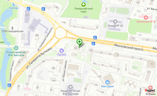 Сбербанк Калининград проспект Московский 12 карта