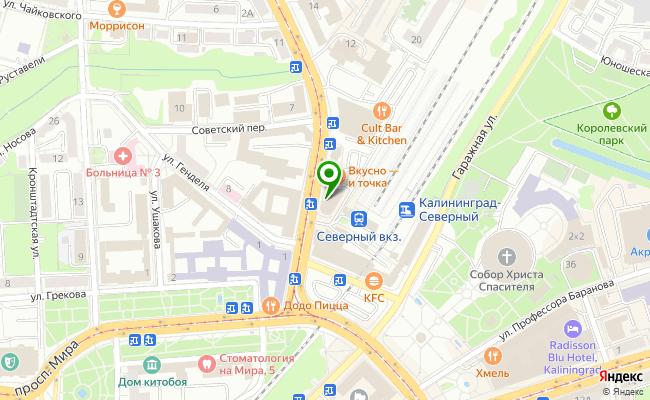 Сбербанк Калининград проспект Советский 2А карта