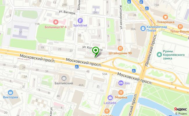 Сбербанк Калининград проспект Московский 39 карта