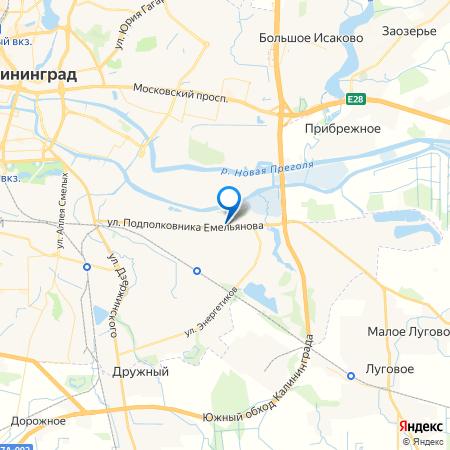 жилой дом по улице Подполковника Емельянова на карте