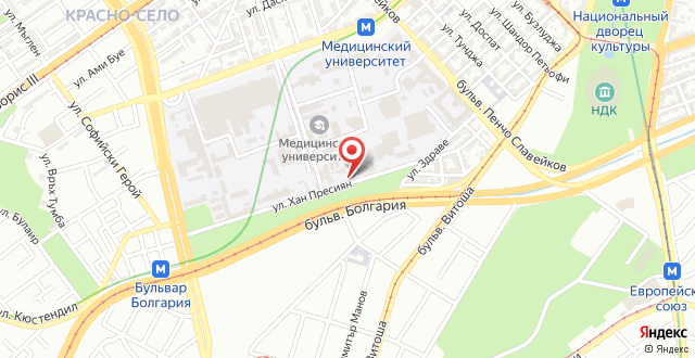 Отель Медик на карте