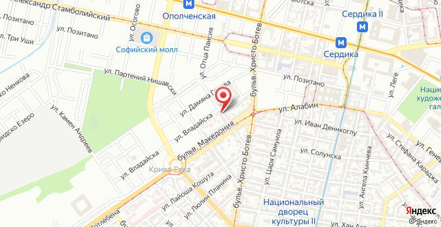 Sofia Downtown Ivaylo Apartment на карте