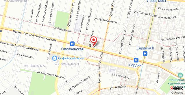 Отель Анел на карте