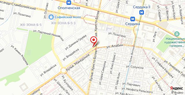 Хостел Мостел София на карте