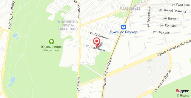 Hotelina Apartment на карте
