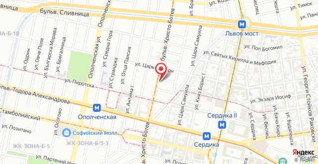 Sofia Central Guest Rooms на карте