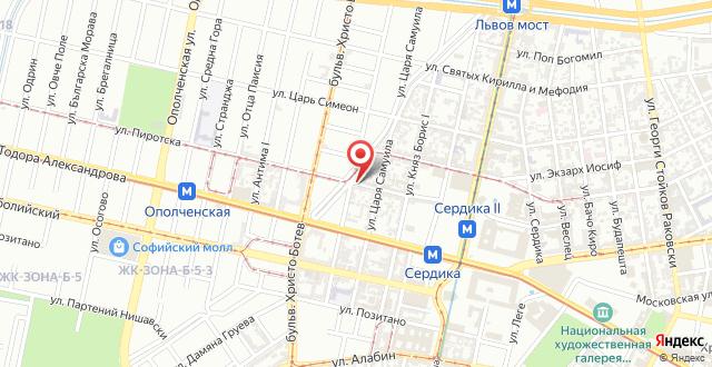 Apartment Choco на карте