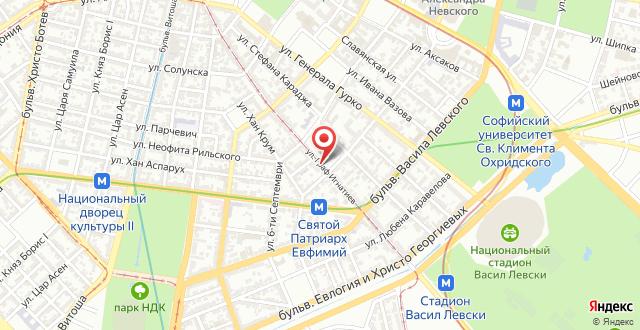 Sofia City Flat на карте