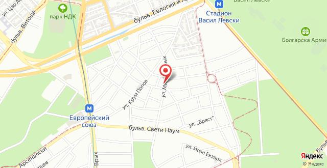 Fully Furnished Apartment near the heart of Sofia на карте